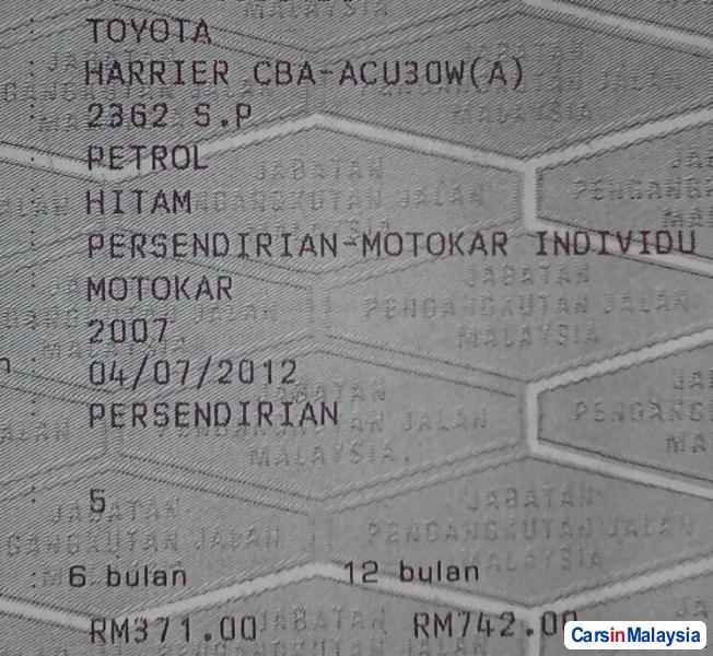 Toyota Harrier 2.4-LITER LUXURY FAMILY SUV Automatic 2012 in Selangor